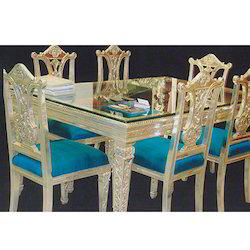 Silver Furnished Dining Set