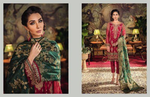 6a59e302eb L Chiffon Pakistani Suits, Rs 3200 /piece, Fabcollections | ID ...