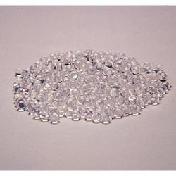 Round Colourless Glass Beads, Size: 0-2 mm
