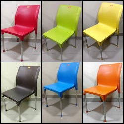 Plastic Mango Tesla Cafe Dining Chair, Size: 840x450x550 mm