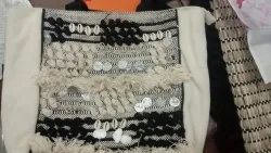Cotton White Hand Bag for Home