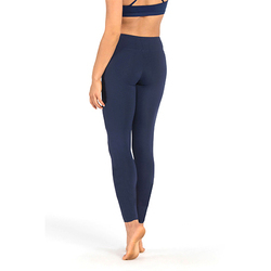 Ladies Navy Blue Plain Ankle Length Legging
