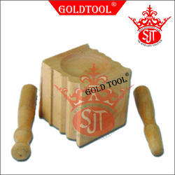 Gold Tool 70 mm Wooden Dapping Block With Punch