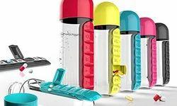 Plastic Medicine Pill Organizer Water Bottle