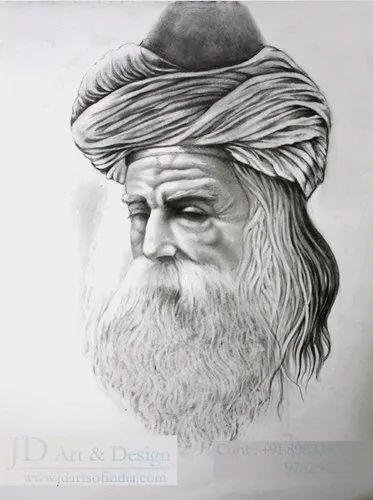 Best Blk Grey White Pencil Sketch Rs 2500 Per Piece Jd Art Design Id 21238884048