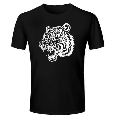 82ed34bb6eb4b Collar And Polo Neck XL and Medium Cotton Tiger Tattoo Printed T Shirt
