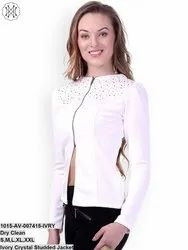 Ivory Crystal Studded Jacket