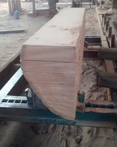 Pinkish-Red Hardwood Planks