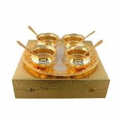 Designer Gold & Silver Plated Handi Set