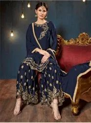 Aanaya 76000 Vol-76 Stylish Party Wear Satin Georgette Suit