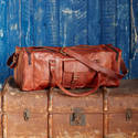 Leather Duffel Bag, Travel Bag, Luggage, Vintage Leather Bag, Handmade Leather Bag, Goat Leather Bag