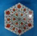 Marble Inlay  Jewellery Box