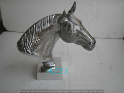 Aluminium Decorative Horse Head Statue