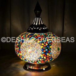 Acc To Standard Glass Mosaic Table Lamp