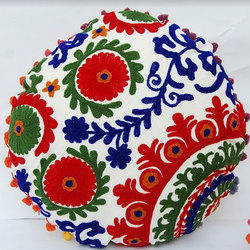 Embroidered  Round Cushion cover