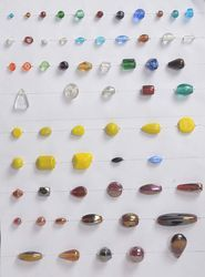 Multicolor Hand Made Lamp Work Plain Glass Beads, Size: 25 Gm To 115 Gram Size
