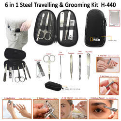 6 In 1 Steel & Grooming Kit H-440