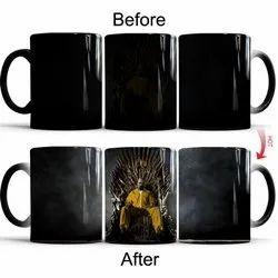 Black Ceramic Magic Tea Cup, For Home, Packaging Type: Box