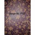 P137 Non Woven Metallic Printed Fabric