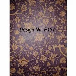 P137 Non Woven Metallic Printed Fabric