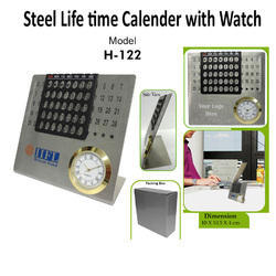 Steel Life Time Calender With Watch