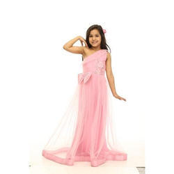 bb42bc8db 4 To 15 Year Girls Pink And Copper Silk Party Wear Dresses