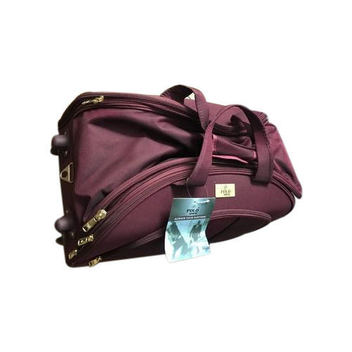 Polo Shine Two Tone Nylon Fabric Luggage Trolley Duffle Bags a0401f67f7203