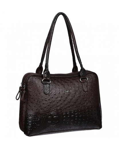 Black Faux Leather Merci Bernadetta Brown Ladies Handheld Bag