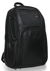 Black Textured Rare & Demanded Grandeur Faux Leather 30L Office backpack