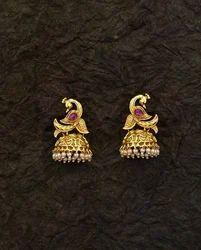 Peacock Dancing Style Jhumki Earrings