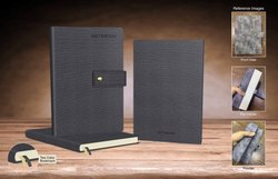 Printed Grey PU Leather Flexible Diaries, Monthly, Size: A5