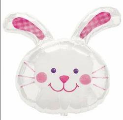 White Long Rabbit Balloon