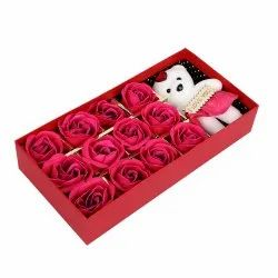 Plastic Multicolor Love Teddy Box, Size/Dimension: Medium, Box Capacity: 1-5 Kg