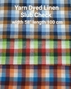 Yarn Dyed Linen Slub Check