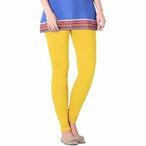 e94ba0a6966eb Cotton Lycra Plain Yellow Stretchable Legging, Rs 150 /piece | ID ...