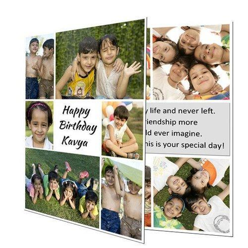 PARSONALIZED WHITE Happy Birthday Greeting Card, Size: 8x12inches