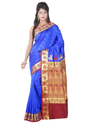 Baluchari Handloom Silk Saree ( CM2405, Royal Blue )