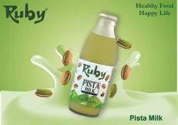 Ruby Pista Milk, 200 ml, Packaging Type: Bottle