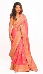 Angosree Satin Heavy Work Wedding Saree