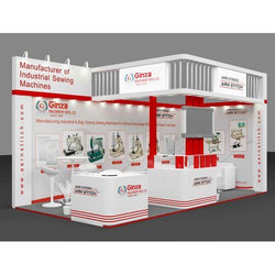 Red And White Exhibition Stall