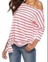 Grs Recycle Cotton Ladies Striped Tops