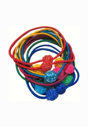 Elastic Hair Bands White Color 7cm  Pack of 5