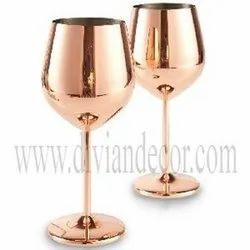 Plain Copper Wine Glass