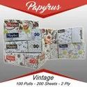 Plain Papyrus Vintage 2 Ply Face Tissue Paper, Packing Type: Box