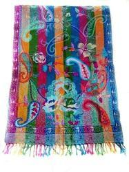 Hot Selling Boil Wool Embroidery Shawls