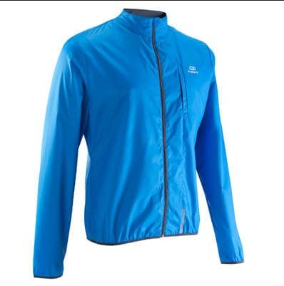 30db69d45620 KALENJI Bright Blue Run Wind Mens Running Jacket - Bright Blue