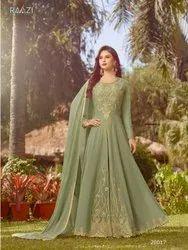 Embroidered Designer Georgette Festive Wear Anarkali Suit