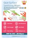 Quat Surface Sanitizing Wipes - 80 Wipes Pack