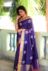 Soft Raw Silk Zari Work Saree