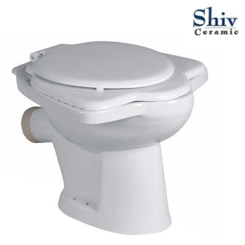White Anglo Indian Commode Toilet Seat, Rs 530 /piece, Shiv Ceramic ...